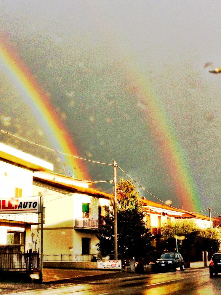 Double rainbows after the rain in Florence