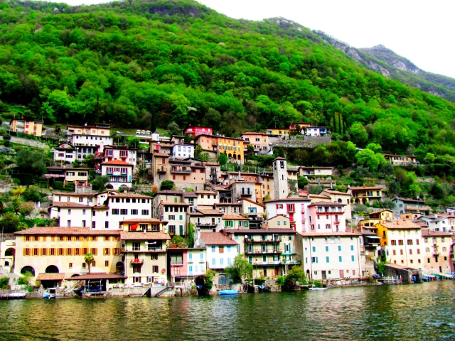 View from the boat tour on Lake Lugano