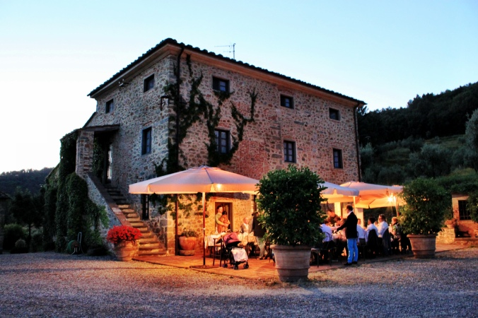 Our wedding rehearsal dinner at Podere la Fausta