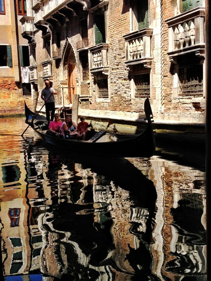 Gondola and its reflection