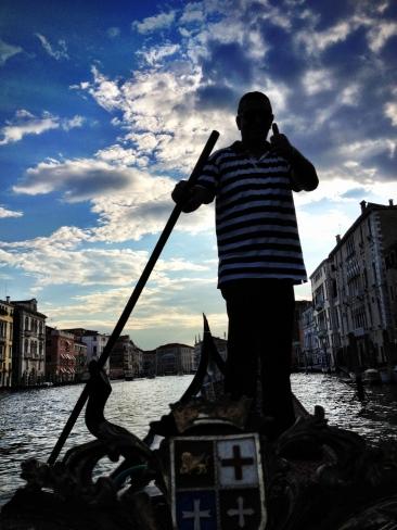 A gondola driver