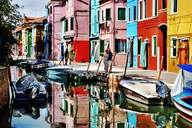 In between Murano and its reflection