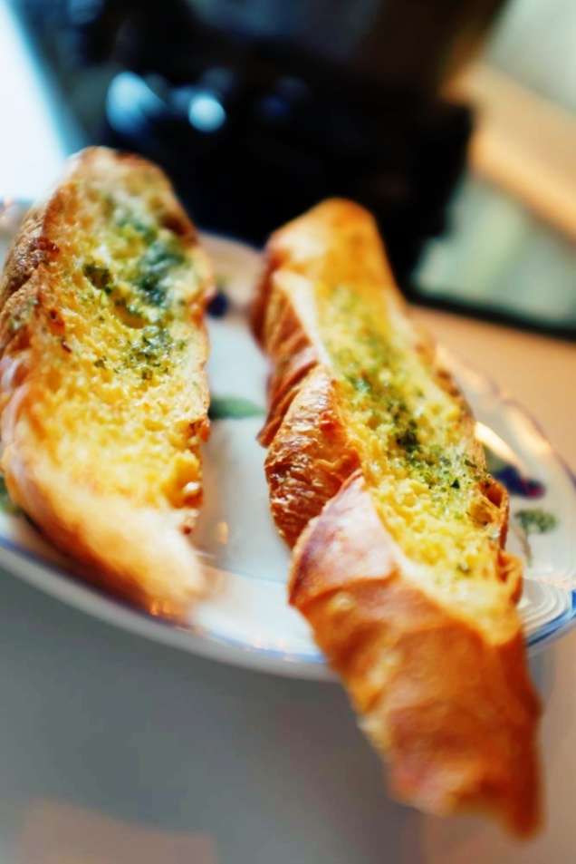 Garlic bread go with the soup