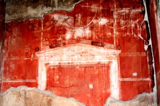 Painting on the wall in Pompei