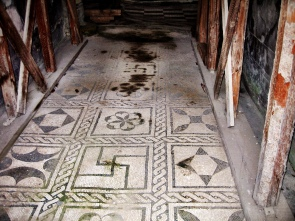 Floor of a house in Pompei