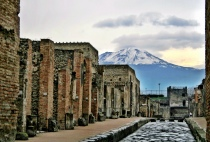 Walking in Pompei