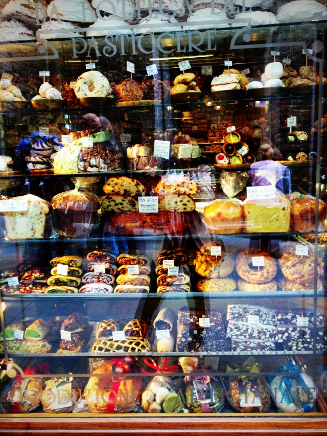 A dessert shop in Assisi