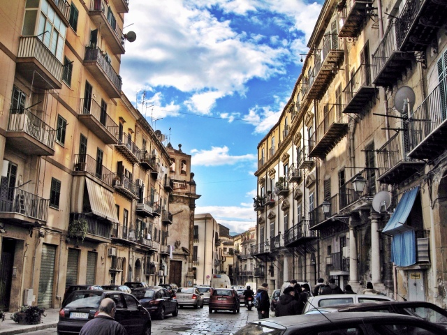 Walking on the street in Palermo