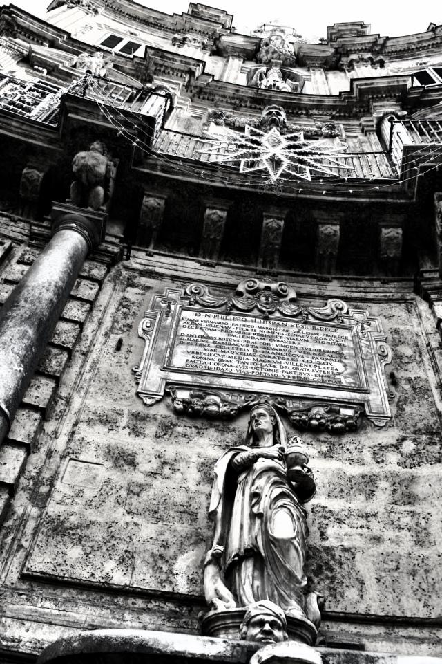 The Baroque architecture in Palermo