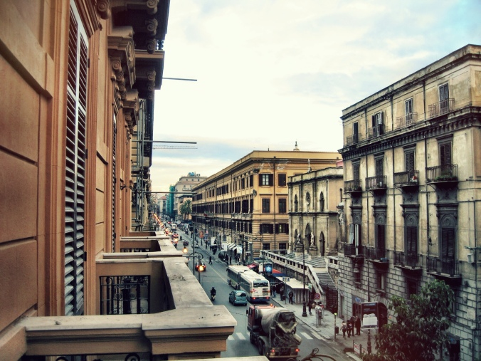 Morning Palermo! From the balcony of my hotel room.