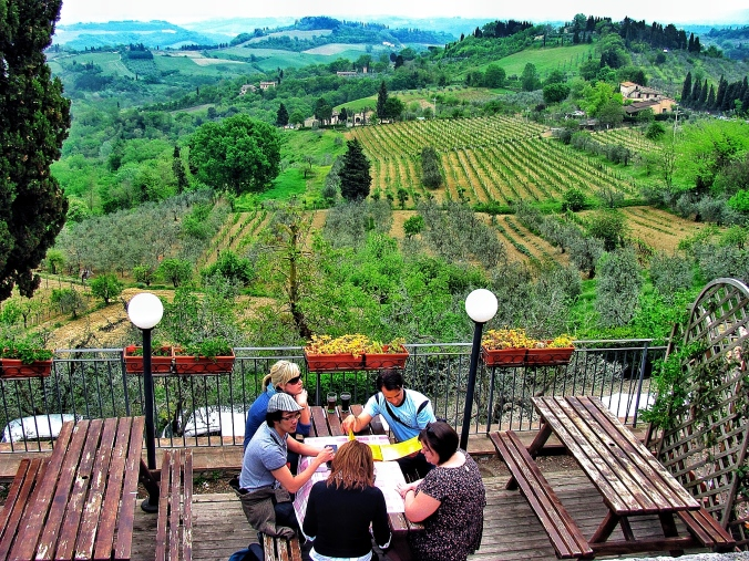My dreamy scene comes true. An infinit Tuscany countryside view