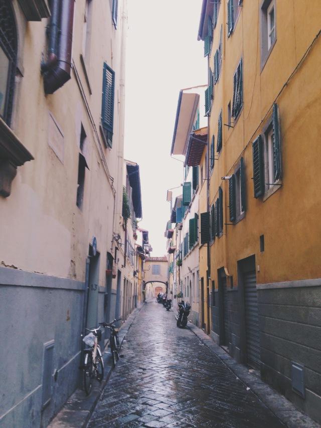 In Borgo Santo Spirito in Florence, Italy