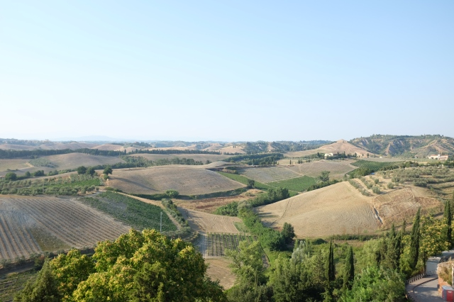 View of Certaldo Alto. Tuscany countryside landscape