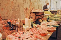 buffet table for brunch
