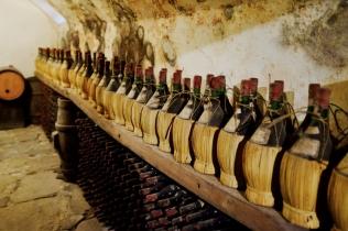 a corner of the cellar in castello del trebbio