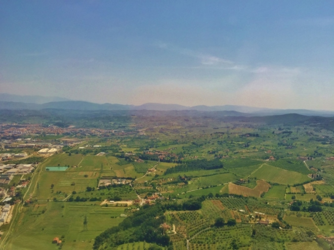 landing in Tuscany