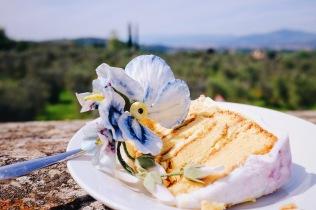 Wedding cake tasting by Tuscan Wedding Cakes