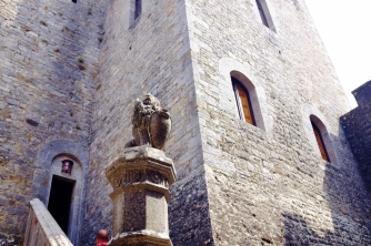 Tower of the Castle. The bottom part dates back to 1141.