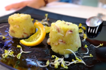 appetizer of octopus and potato